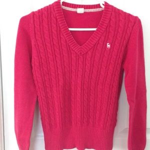 Ralph Lauren Red V-neck Sweater